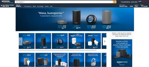 Amazon Alexa parla italiano