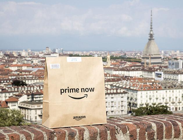 Amazon Prime Now arriva a Torino