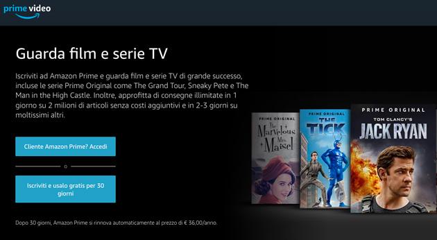 Amazon Prime Video verso la sua prima campagna in Italia, Francia e Spagna