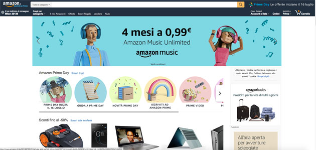 Amazon 'apre' a 1.700 posti lavoro in Italia