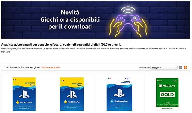Amazon apre ai videogame in digitale