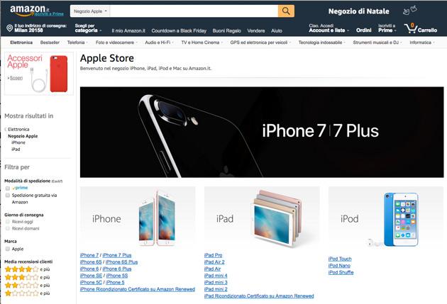 Apple vende direttamente su Amazon