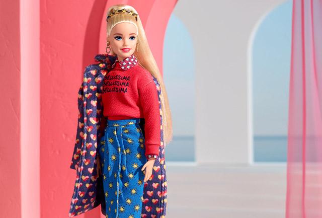 Barbie presenta il primo look della collezione di Alessandro Enriquez
