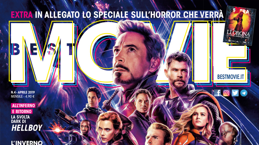 Best Movie dedica la coverstory di aprile ad Avengers: Endgame