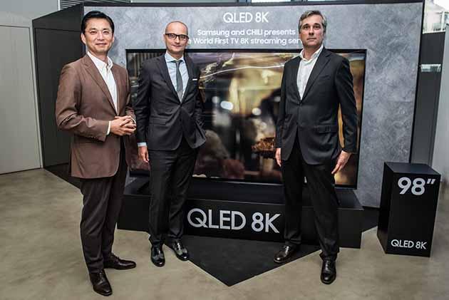 Da Samsung e CHILI arriva il primo servizio streaming in 8K al mondo