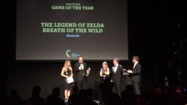 Italian Video Game Awards, Zelda: Breath of the Wild videogioco dell'anno