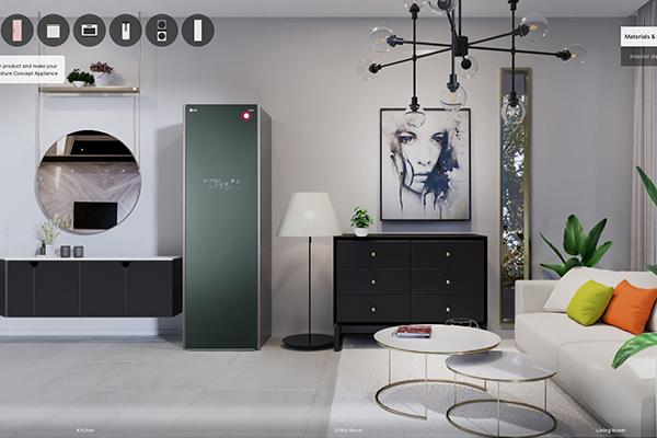LG presenta i suoi concept personabilizzabili in una casa virtuale