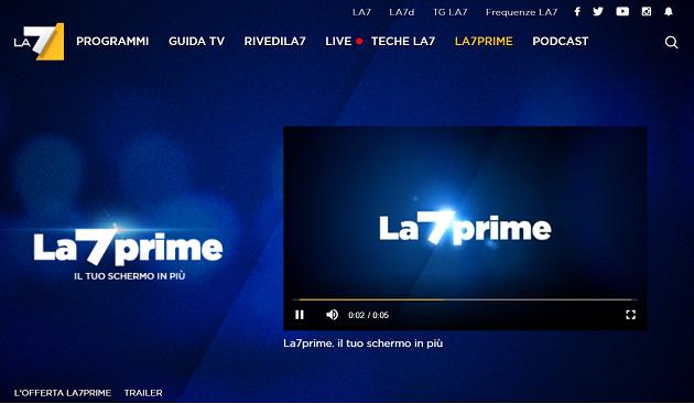 La7 Prime: anche La7 ha il suo vod