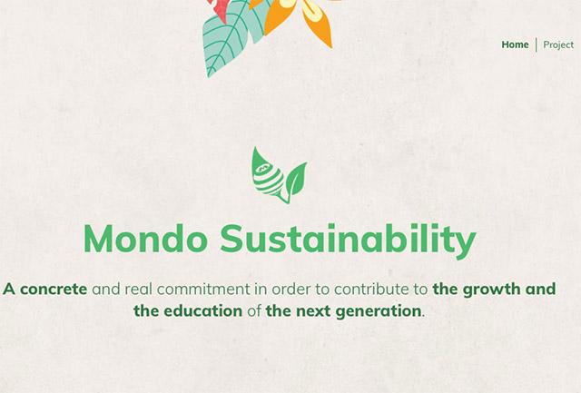 Mondo: due nuovi progetti ecosostenibili