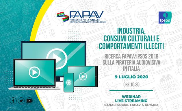 Ricerca Fapav/Ipsos, presentazione online il 9 luglio