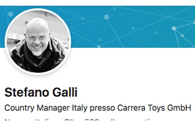 Stefano Galli è il nuovo Country Manager Italy di Carrera Toys