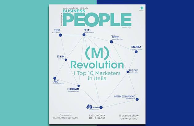 Su Business People di novembre i Top 10 Marketers in Italia
