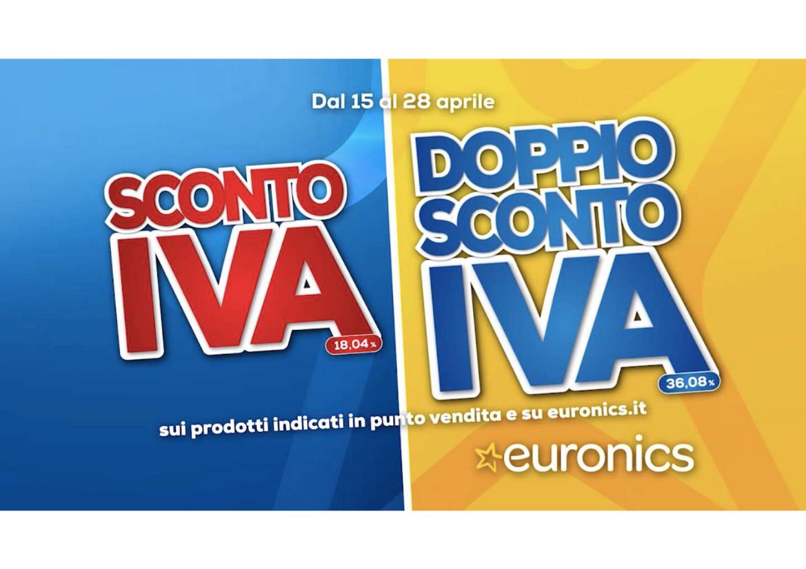 """Euronics, al via la campagna """"Sconto IVA e Doppio sconto IVA"""""""