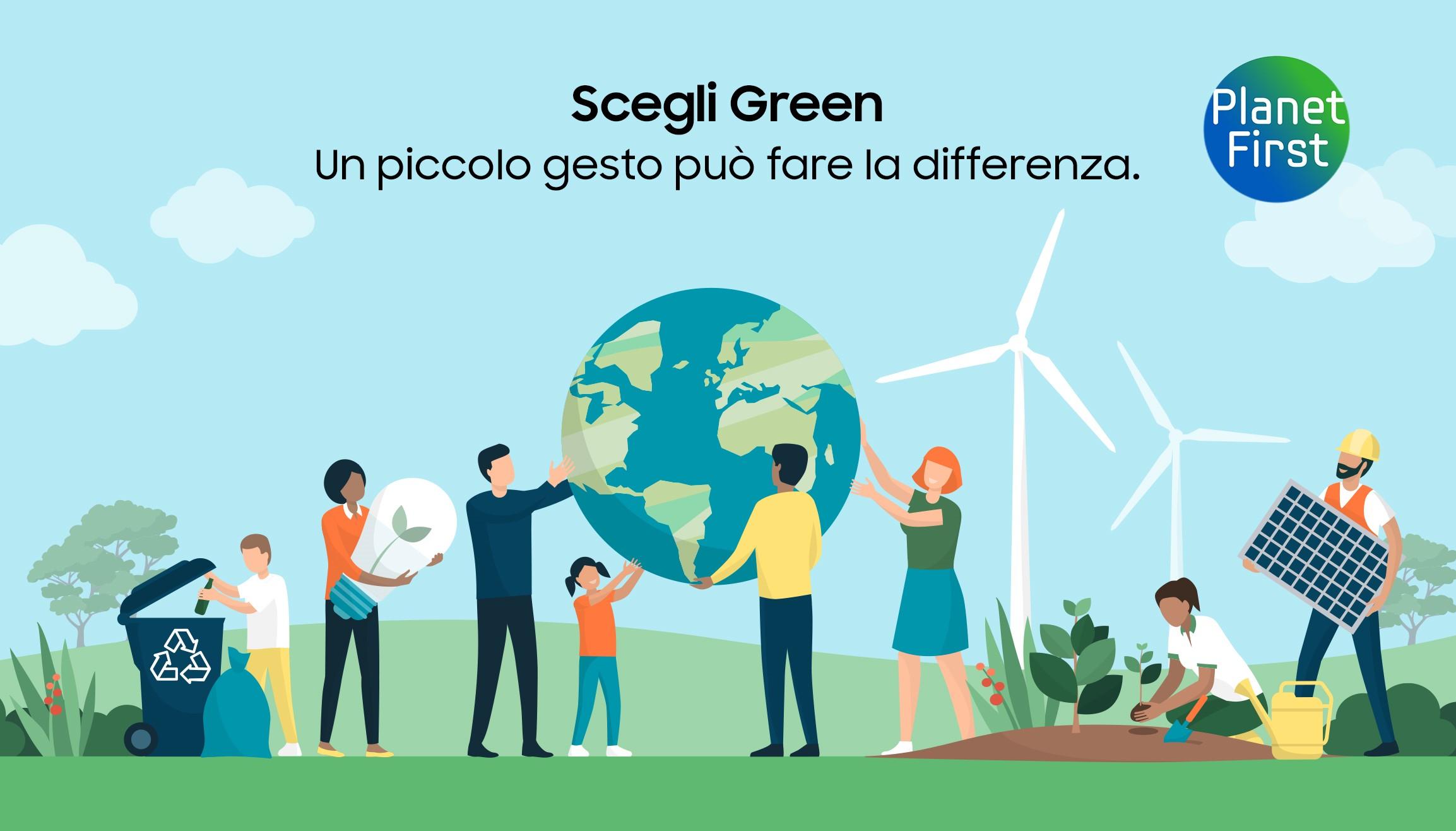 """""""Scegli Green"""" di Samsung"""