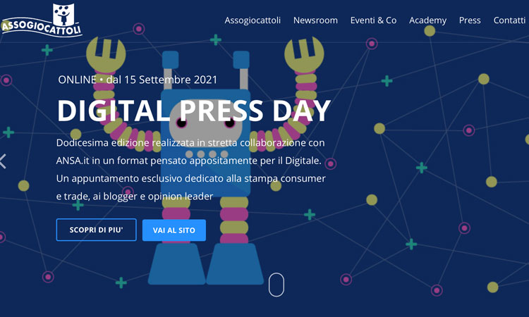 Nuova edizione per il Digital Press Day di Assogiocattoli