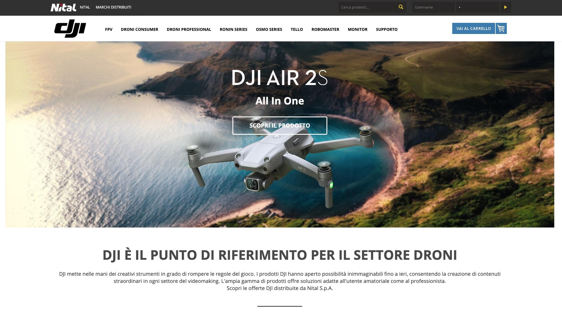 Nital apre lo store online italiano di DJI